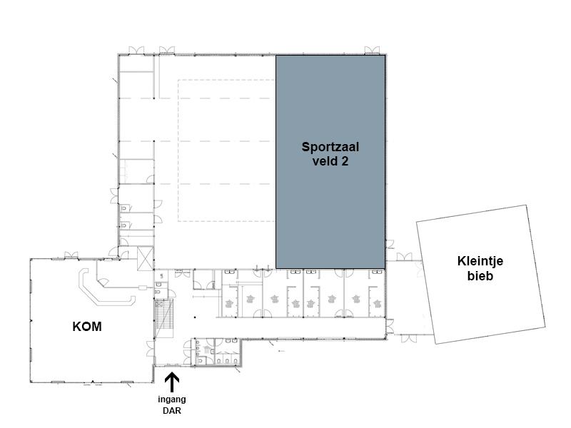 DAR Plattegrond - Sportzaal veld 2