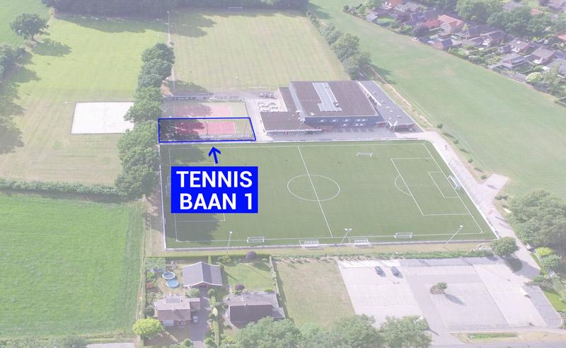 DAR Plattegrond - Tennisbaan 1